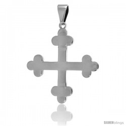 Stainless Steel Apostles Cross Pendant, 1 1/2 in tall with 30 in chain