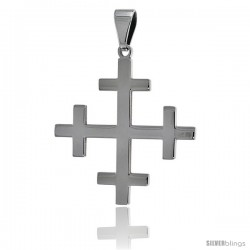 Stainless Steel Crosslet Cross Pendant, 1 1/2 in tall with 30 in chain