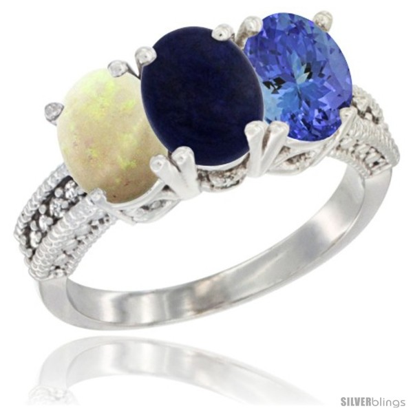 https://www.silverblings.com/26615-thickbox_default/10k-white-gold-natural-opal-lapis-tanzanite-ring-3-stone-oval-7x5-mm-diamond-accent.jpg