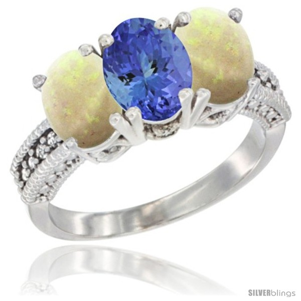 https://www.silverblings.com/26621-thickbox_default/10k-white-gold-natural-tanzanite-opal-ring-3-stone-oval-7x5-mm-diamond-accent.jpg