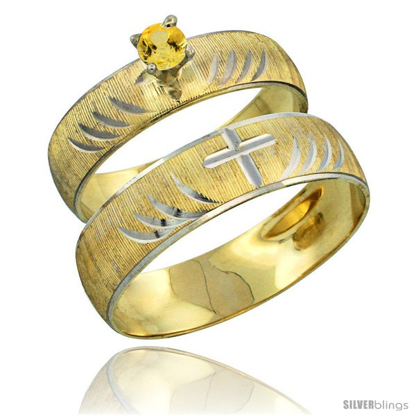 https://www.silverblings.com/26781-thickbox_default/10k-gold-2-piece-0-25-carat-yellow-sapphire-ring-set-engagement-ring-mans-wedding-band-diamond-cut-pattern-style-10y503em.jpg