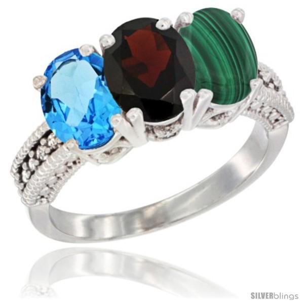 https://www.silverblings.com/26827-thickbox_default/14k-white-gold-natural-swiss-blue-topaz-garnet-malachite-ring-3-stone-7x5-mm-oval-diamond-accent.jpg