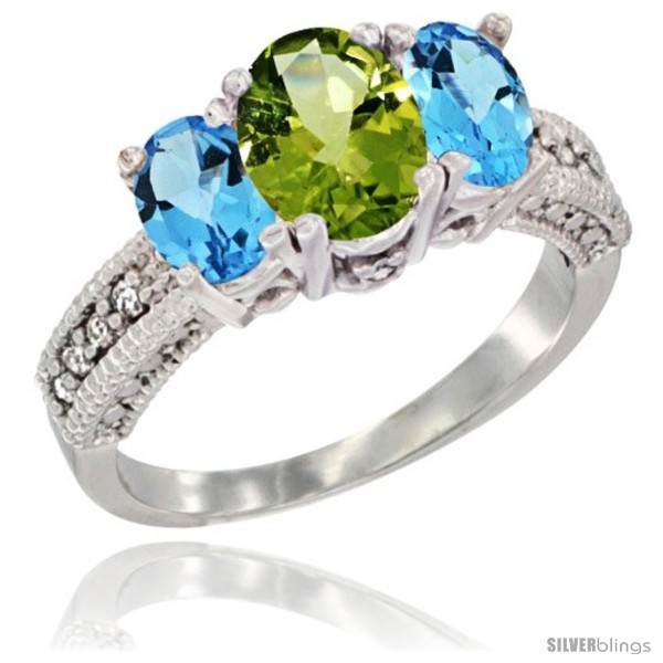 https://www.silverblings.com/26867-thickbox_default/14k-white-gold-ladies-oval-natural-peridot-3-stone-ring-swiss-blue-topaz-sides-diamond-accent.jpg