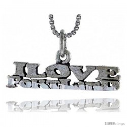 Sterling Silver I LOVE PORTLAND Word Necklace, w/ 18 in Box Chain