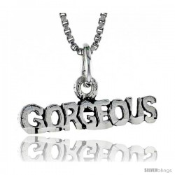 Sterling Silver GORGEOUS Word Necklace, w/ 18 in Box Chain