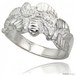 Sterling Silver Freeform Ring Polished finish 3/8 in wide -Style Ffr633