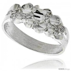 Sterling Silver Freeform Ring Polished finish 1/4 in wide -Style Ffr634