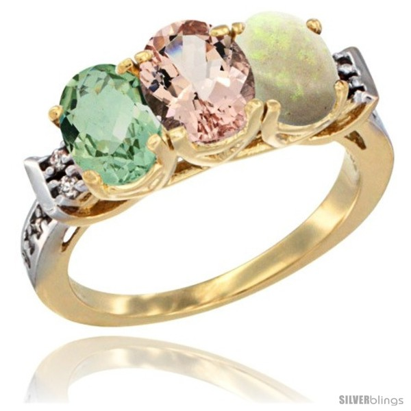 https://www.silverblings.com/2703-thickbox_default/10k-yellow-gold-natural-green-amethyst-morganite-opal-ring-3-stone-oval-7x5-mm-diamond-accent.jpg