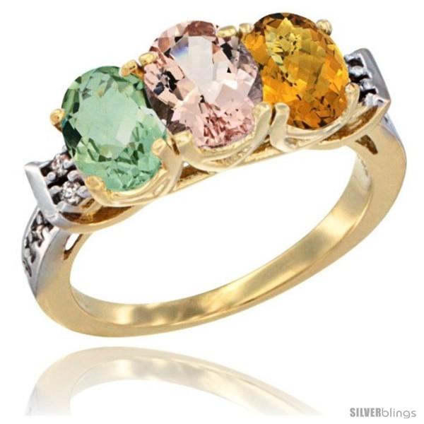 https://www.silverblings.com/2707-thickbox_default/10k-yellow-gold-natural-green-amethyst-morganite-whisky-quartz-ring-3-stone-oval-7x5-mm-diamond-accent.jpg