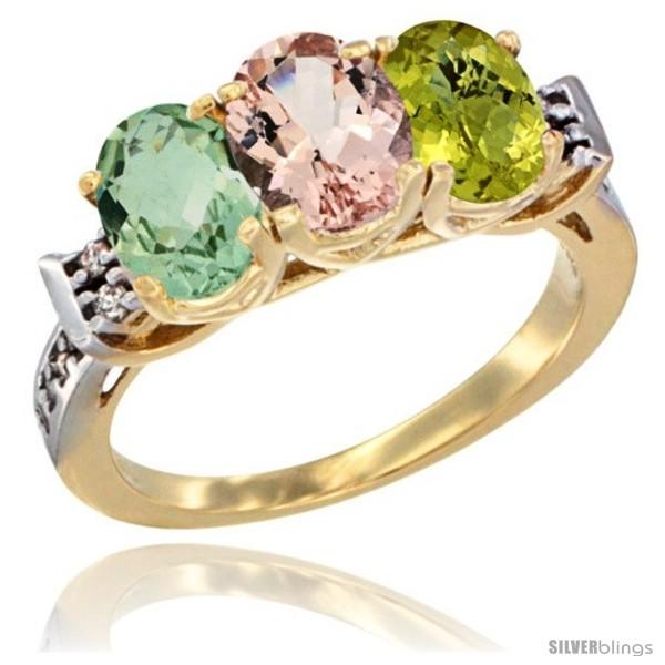 https://www.silverblings.com/2709-thickbox_default/10k-yellow-gold-natural-green-amethyst-morganite-lemon-quartz-ring-3-stone-oval-7x5-mm-diamond-accent.jpg