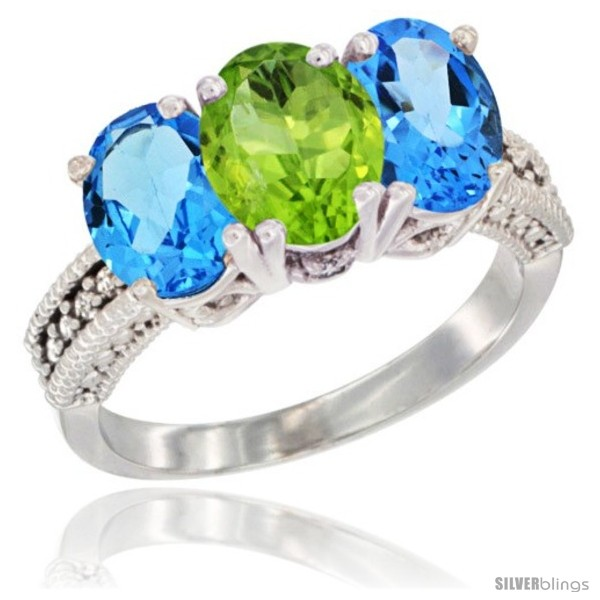 https://www.silverblings.com/27154-thickbox_default/14k-white-gold-natural-peridot-swiss-blue-topaz-sides-ring-3-stone-7x5-mm-oval-diamond-accent.jpg
