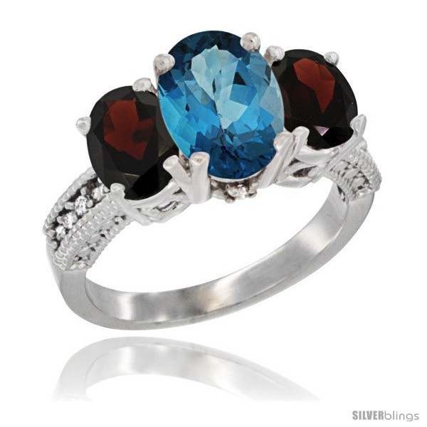 https://www.silverblings.com/2719-thickbox_default/14k-white-gold-ladies-3-stone-oval-natural-london-blue-topaz-ring-garnet-sides-diamond-accent.jpg