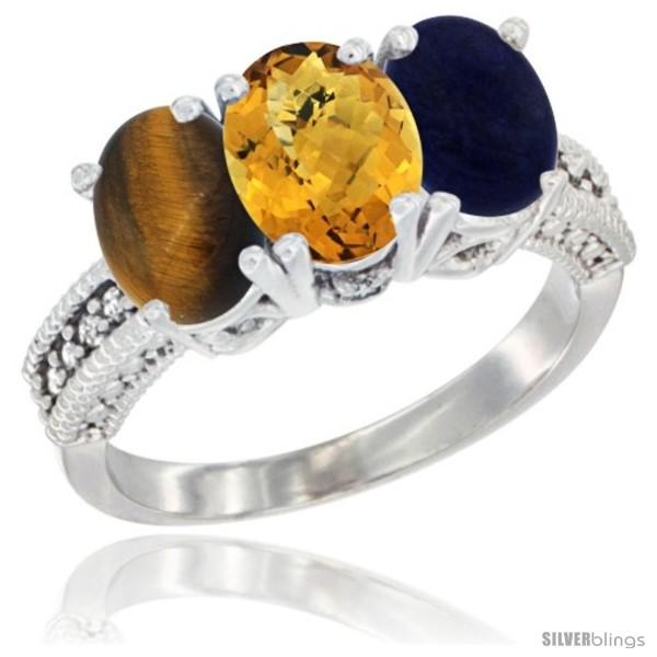 https://www.silverblings.com/27515-thickbox_default/10k-white-gold-natural-tiger-eye-whisky-quartz-lapis-ring-3-stone-oval-7x5-mm-diamond-accent.jpg