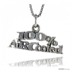 Sterling Silver 100 Percent AIR-COOLED Word Necklace, w/ 18 in Box Chain