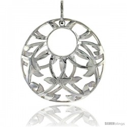 "Sterling Silver Round Pendant, 1 1/8"" (29 mm)"