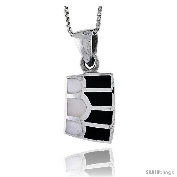 https://www.silverblings.com/27721-thickbox_default/sterling-silver-striped-rectangular-shell-pendant-w-black-white-mother-of-pearl-inlay-7-8-22-mm-tall18-thin-snake.jpg