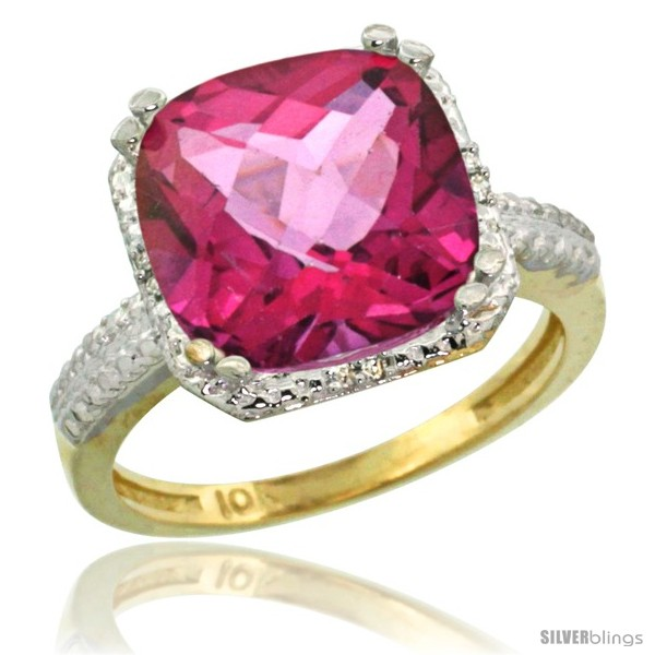 https://www.silverblings.com/27764-thickbox_default/10k-yellow-gold-diamond-pink-topaz-ring-5-94-ct-checkerboard-cushion-11-mm-stone-1-2-in-wide.jpg
