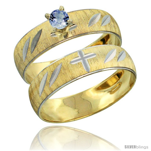 https://www.silverblings.com/27816-thickbox_default/10k-gold-ladies-2-piece-0-25-carat-light-blue-sapphire-engagement-ring-set-diamond-cut-pattern-rhodium-accent-style-10y504e2.jpg