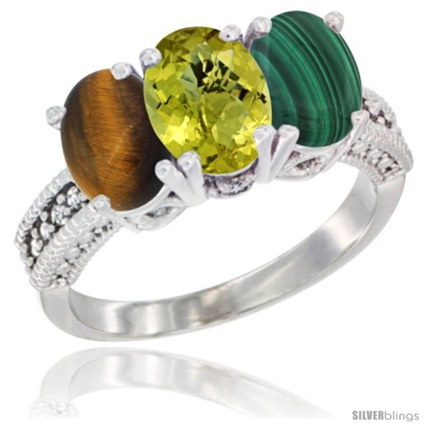 https://www.silverblings.com/27851-thickbox_default/10k-white-gold-natural-tiger-eye-lemon-quartz-malachite-ring-3-stone-oval-7x5-mm-diamond-accent.jpg