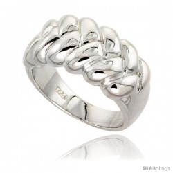 Sterling Silver Braided Dome Ring Flawless finish 1/2 in wide