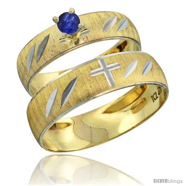 https://www.silverblings.com/28010-thickbox_default/10k-gold-2-piece-0-25-carat-deep-blue-sapphire-ring-set-engagement-ring-mans-wedding-band-diamond-cut-style-10y504em.jpg