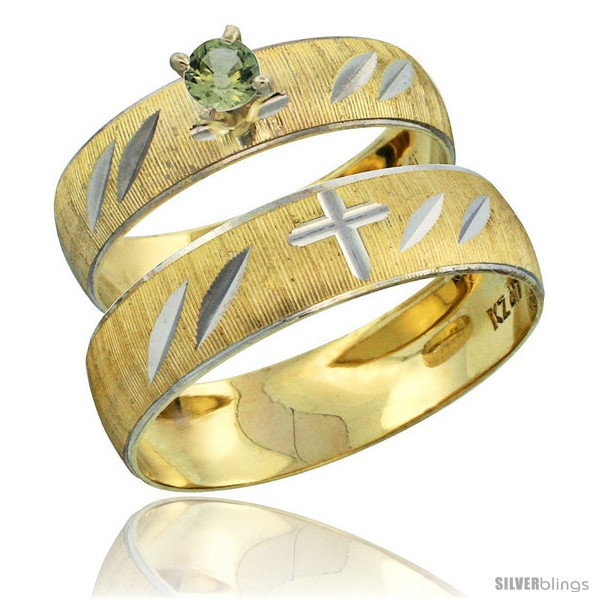 https://www.silverblings.com/28014-thickbox_default/10k-gold-2-piece-0-25-carat-green-sapphire-ring-set-engagement-ring-mans-wedding-band-diamond-cut-pattern-style-10y504em.jpg