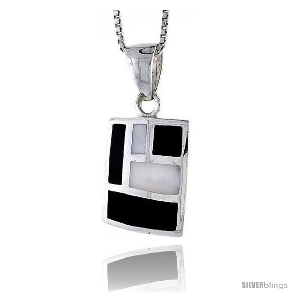 https://www.silverblings.com/28070-thickbox_default/sterling-silver-rectangular-shell-pendant-w-black-white-mother-of-pearl-inlay-7-8-22-mm-tall18-thin-snake-chain.jpg