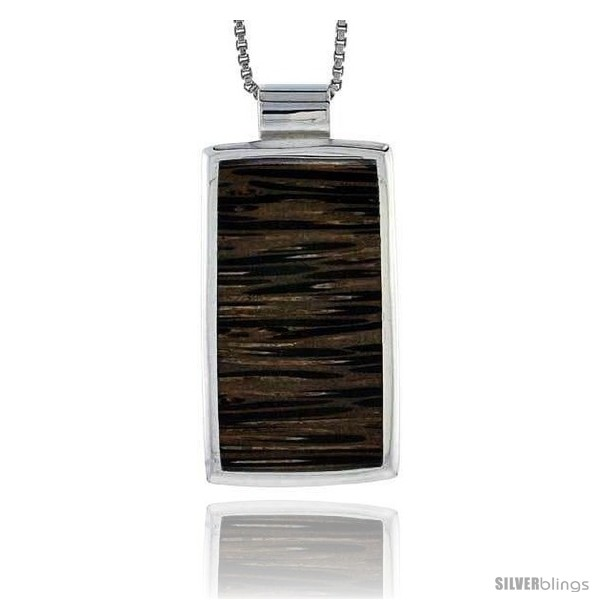 https://www.silverblings.com/28082-thickbox_default/sterling-silver-rectangular-slider-pendant-w-ancient-wood-inlay-1-1-8-29-mm-tall-w-18-thin-snake-chain.jpg