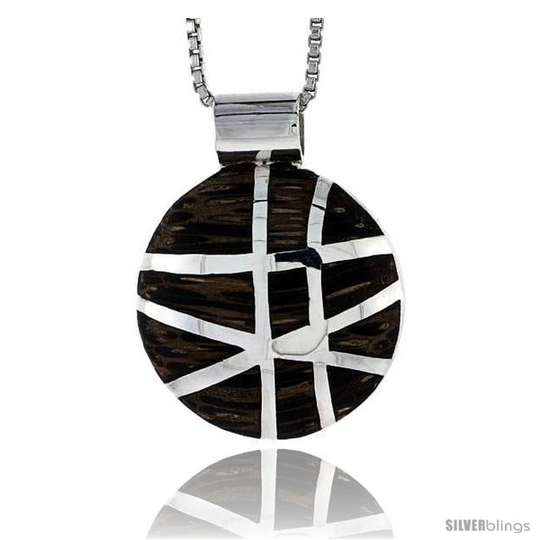 https://www.silverblings.com/28104-thickbox_default/sterling-silver-round-slider-pendant-w-ancient-wood-inlay-13-16-20-mm-tall-w-18-thin-snake-chain.jpg