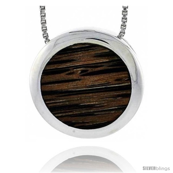 https://www.silverblings.com/28106-thickbox_default/sterling-silver-round-slider-pendant-w-ancient-wood-inlay-13-16-20-mm-w-18-thin-snake-chain.jpg