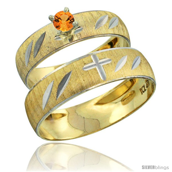 https://www.silverblings.com/28259-thickbox_default/10k-gold-2-piece-0-25-carat-orange-sapphire-ring-set-engagement-ring-mans-wedding-band-diamond-cut-pattern-style-10y504em.jpg