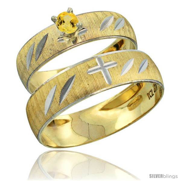 https://www.silverblings.com/28273-thickbox_default/10k-gold-2-piece-0-25-carat-yellow-sapphire-ring-set-engagement-ring-mans-wedding-band-diamond-cut-pattern-style-10y504em.jpg