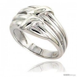Sterling Silver Ribbon Ring Flawless finish 9/16 in wide