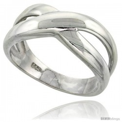 Sterling Silver Freeform Ring Flawless finish 3/8 in wide -Style Trp431