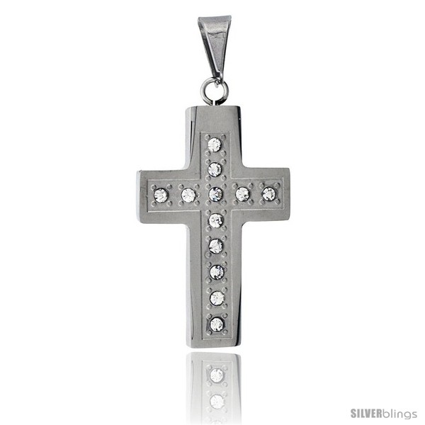 https://www.silverblings.com/2835-thickbox_default/stainless-steel-christian-cross-pendant-w-cz-stones-1-1-2-in-tall-30-in-chain.jpg
