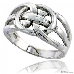 Sterling Silver Celtic Love Knot Band, 5/16 in wide