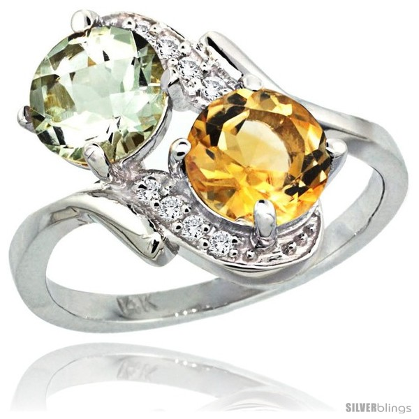 https://www.silverblings.com/2845-thickbox_default/14k-white-gold-7-mm-double-stone-engagement-green-amethyst-citrine-ring-w-0-05-carat-brilliant-cut-diamonds-2-34.jpg