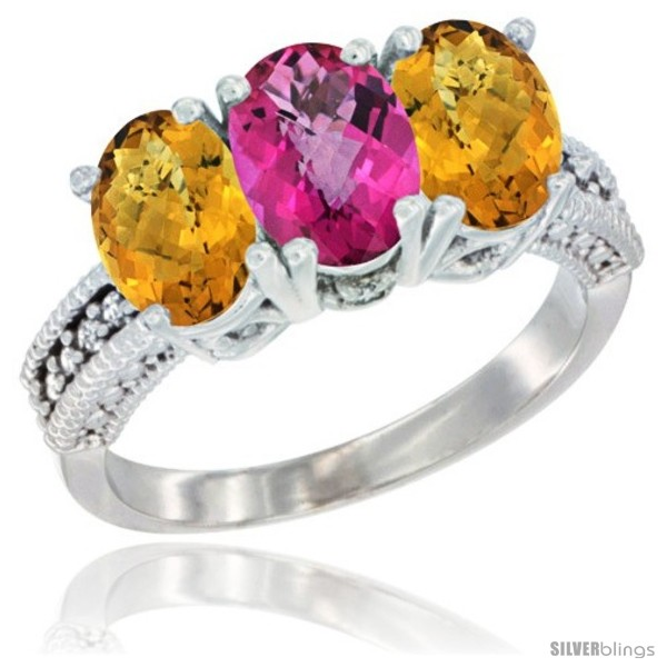 https://www.silverblings.com/28576-thickbox_default/10k-white-gold-natural-pink-topaz-whisky-quartz-sides-ring-3-stone-oval-7x5-mm-diamond-accent.jpg