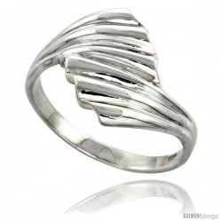 Sterling Silver Freeform Ring Flawless finish 3/4 in wide