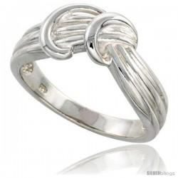 Sterling Silver Freeform Ring Flawless finish 3/8 in wide -Style Trp440