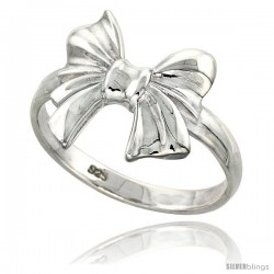 Sterling Silver Bow Ring Flawless finish 3/4 in wide