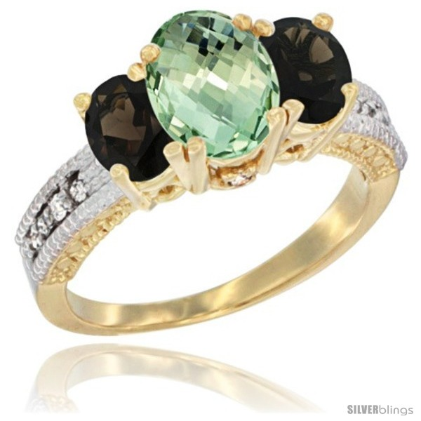 https://www.silverblings.com/28771-thickbox_default/10k-yellow-gold-ladies-oval-natural-green-amethyst-3-stone-ring-smoky-topaz-sides-diamond-accent.jpg