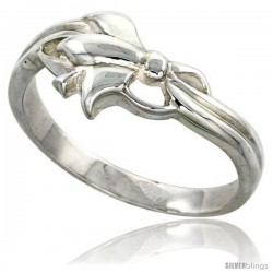 Sterling Silver Ribbon Ring Flawless finish 3/8 in wide -Style Trp447