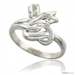Sterling Silver Tulips Ring Flawless finish 3/4 in wide