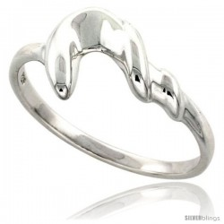 Sterling Silver Freeform Ring Flawless finish 3/8 in wide -Style Trp461