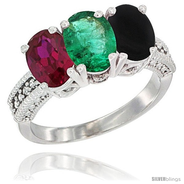 https://www.silverblings.com/2892-thickbox_default/10k-white-gold-natural-ruby-emerald-black-onyx-ring-3-stone-oval-7x5-mm-diamond-accent.jpg