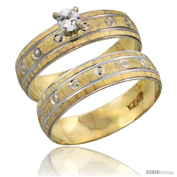 https://www.silverblings.com/28925-thickbox_default/10k-gold-ladies-2-piece-0-10-carat-diamond-engagement-ring-set-diamond-cut-pattern-rhodium-accent-3-16-in-style-10y505e2.jpg