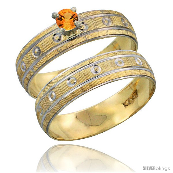 https://www.silverblings.com/28943-thickbox_default/10k-gold-ladies-2-piece-0-25-carat-orange-sapphire-engagement-ring-set-diamond-cut-pattern-rhodium-accent-style-10y505e2.jpg