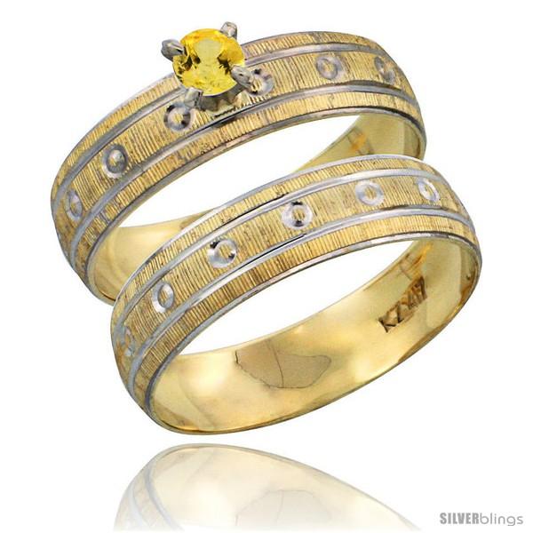 https://www.silverblings.com/28955-thickbox_default/10k-gold-ladies-2-piece-0-25-carat-yellow-sapphire-engagement-ring-set-diamond-cut-pattern-rhodium-accent-style-10y505e2.jpg