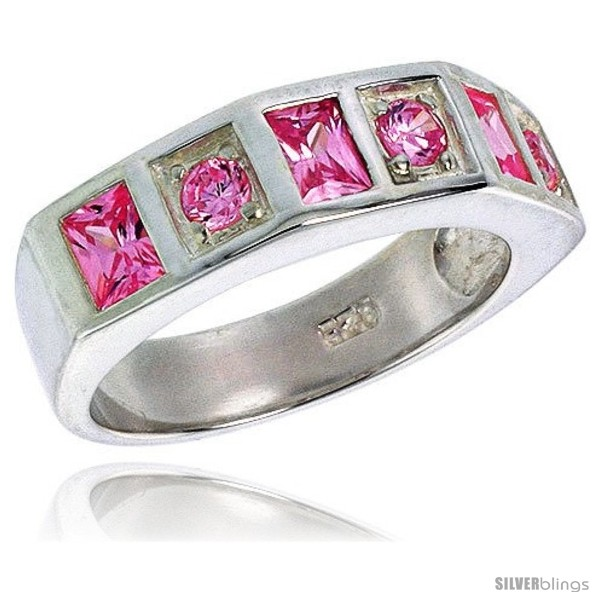 https://www.silverblings.com/2910-thickbox_default/sterling-silver-princess-cut-pink-tourmaline-colored-cz-ring-style-rcz439.jpg